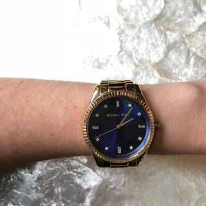Michael Kors Blake Blue Dial Ladies Watch MK3240